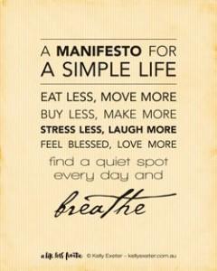 Manifesto-Simple-Life