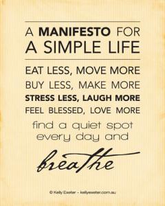 Simple-Life-Manifesto