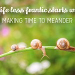 Do you make time to meander?