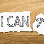 The difference between can and can't  is …